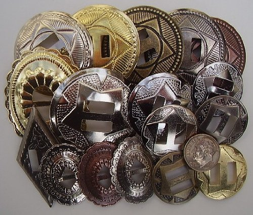 Conchos Grab Bag Mixed Sizes Assorted 50 Pcs