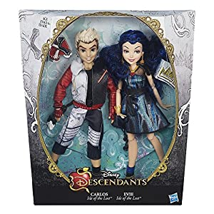 Disney Descendants Two-Pack Evie Isle of the Lost and Carlos Isle of the Lost Dolls from Disney Descendants