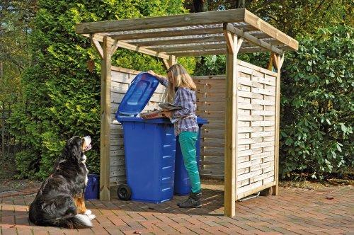 Rosenbogen Holz Kesseldruckimprägniert ~ Produkt Bild Mülltonnen Box Holzunterstand Mülltonnenhäuschen