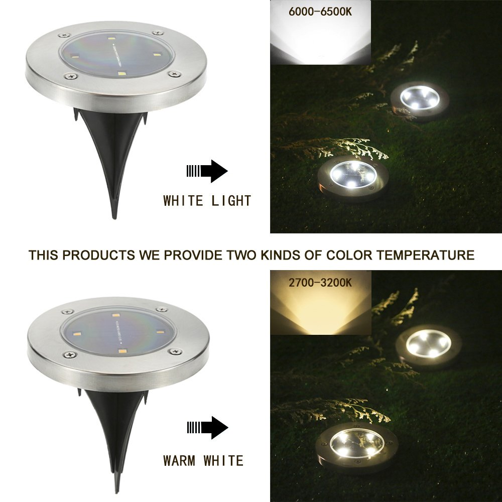 Water-resistant Path Garden Landscape Lighting for Yard Driveway Lawn Pathway White