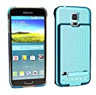 Samsung Galaxy S5 Battery Case 3500 mAh Power Case with Media Kickstand by PhoneChargerCase® (Blue)
