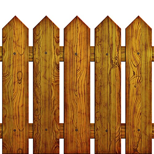 Picket Fence Peel and Stick Fabric Wall Sticker by Wallmonkeys Wall Decals - 18 Inches H x 18 Inches W