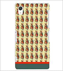 PrintDhaba Owl Pattern D-1652 Back Case Cover for SONY XPERIA Z3 (Multi-Coloured)