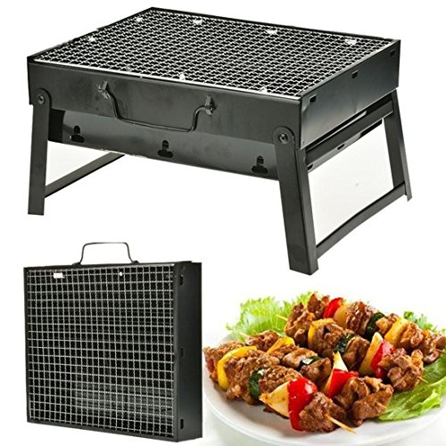 Stainless steel grill bbq Barbecue Foldable Charcoal Outdoor Portable Camping Baking for a beach (Bbq Pit Latches compare prices)