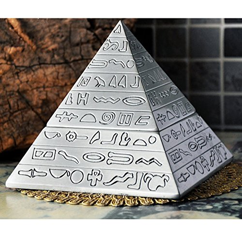 Ashtray Elegant Ashtray Retro Pyramid Ashtray with Lid,Self-Extinguishing Ashtray, Unique Gifts or Home Decorative Art