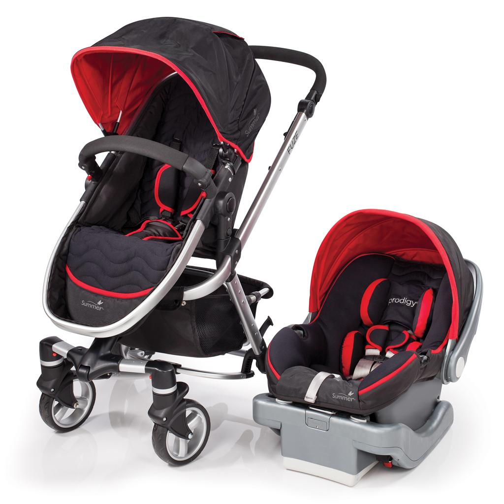 Summer Fuze Travel System With Prodigy Infant Car Seat Jet