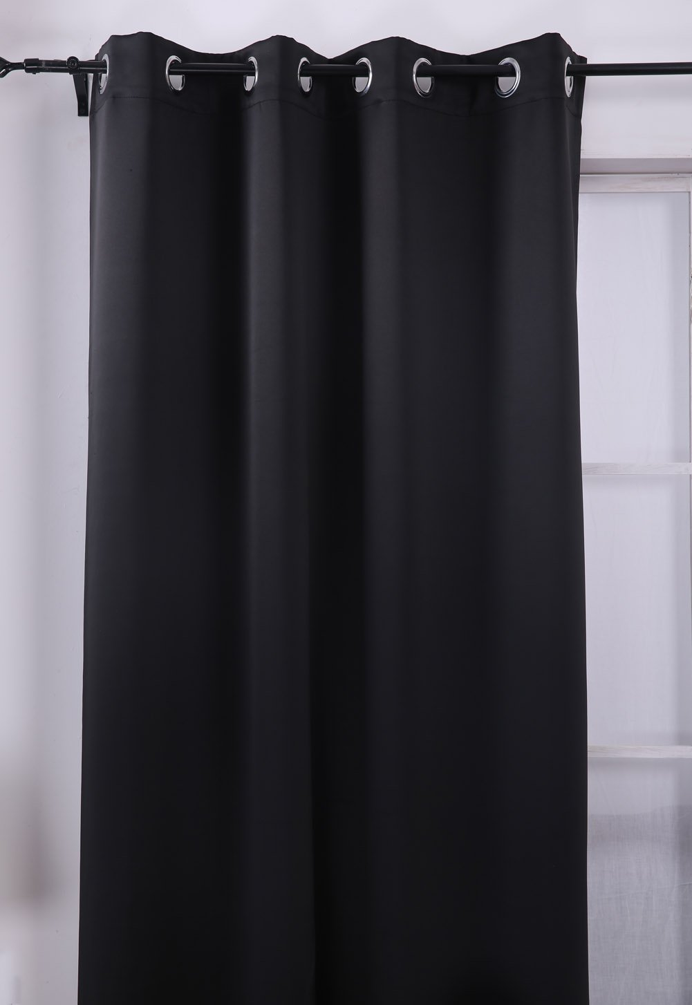 Deconovo Black Thermal Insulated Blackout Panel Curtain 52