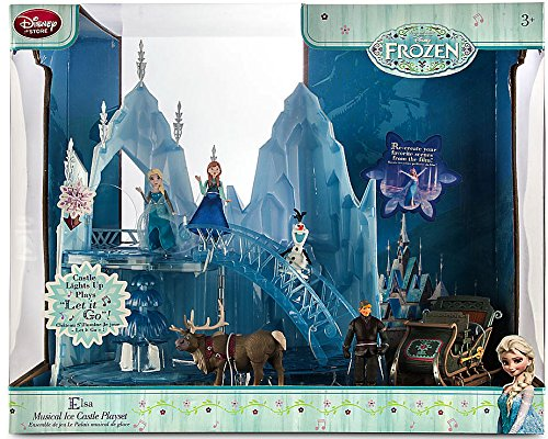 Disney Frozen Elsa Musical Ice Castle Playset [2nd Version with Sleigh] (Elsa Ice Palace compare prices)