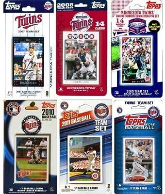 MLB Minnesota Twins 6 Different Licensed Trading Card Team Sets