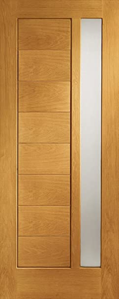 External Oak Pre-Finished Modena Door with Double Glazed Obscure Glass