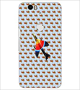 PrintDhaba Aeroplane D-3681 Back Case Cover for HUAWEI NEXUS 6P (Multi-Coloured)