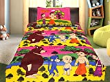 Animation World CHHOTA BHEEM Cotton Single Bed Sheet (sb-02-pink)