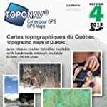 Toponav Carte topographique du Qu�bec...