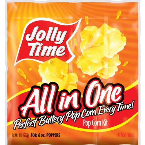 Jolly Time All-in-One Kernels, Oil & Salt Kits for 6 oz. Kettle Popcorn Machines (Pack of 36) (6oz Popcorn Packs compare prices)