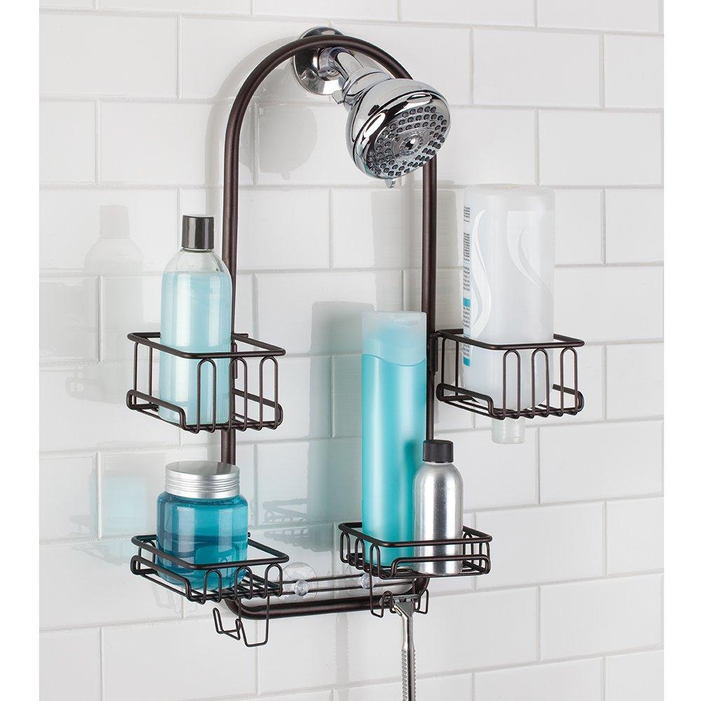 mDesign Handheld Shower Head Shower Caddy - Bronze