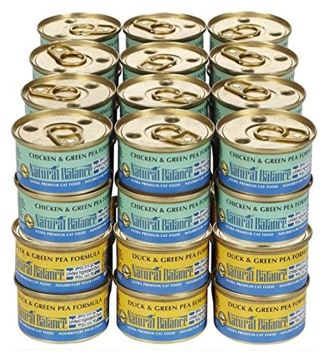 Natural Balance LID  & Duck Wet Food Bundle - 48x3oz (Natural Balance Green Pea Duck compare prices)
