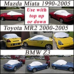 Miata 1990-2005, BMW Z3, MR2 2000-2005 California PopTop Sun Shade, Interior, Cockpit, Car Cover. Use with Top UP or Down - SEMA SHOW NEW PRODUCT AWARD WINNER - 1990,1991,1992,1993,1994,1995,1996,1997,1998,1999,2000,2001,2002,2003,2004,2005