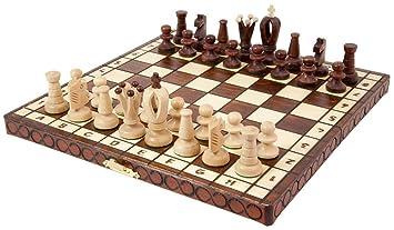 Jeu d'échecs en bois SAN MARCO - 30 x 30 cm