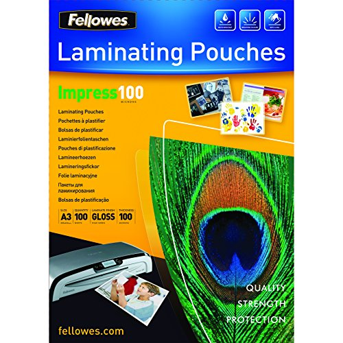fellowes-5351205-pochettes-de-plastification-brillantes-impress-100-microns-a3-pack-de-100-transpare