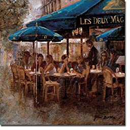 Les Deux Magots by Noemi Martin Premium Gallery-Wrapped Canvas Giclee Art (Ready to Hang)