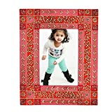 Home And Bazaar Ethnic Rajasthani Handpainted Photo Frame - Pink - B00REJS34K