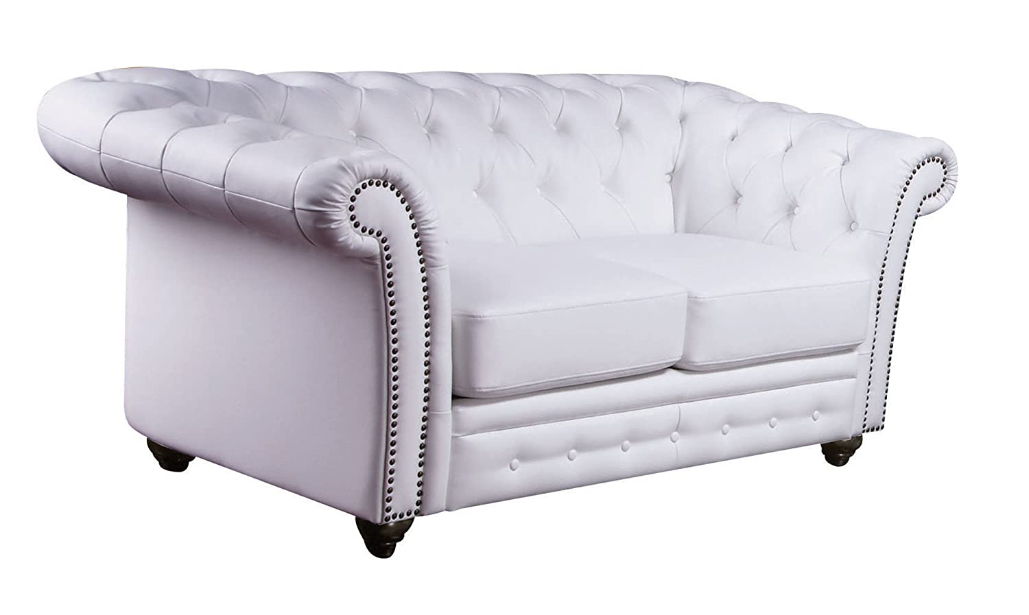 ACME 50166 Camden Bonded Leather Loveseat - White