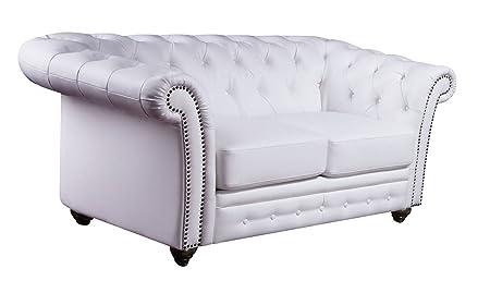 ACME 50166 Camden Bonded Leather Loveseat, White