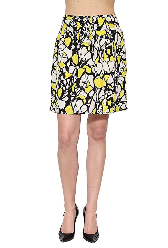 Women's Greylin Water Color Skirt in Yellow