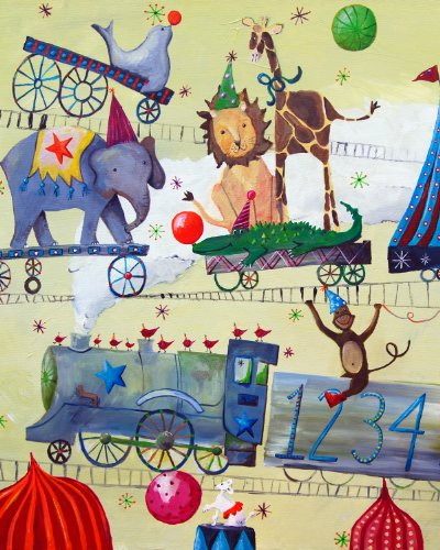 Cici Art Factory Wall Art, Circus Train, Small