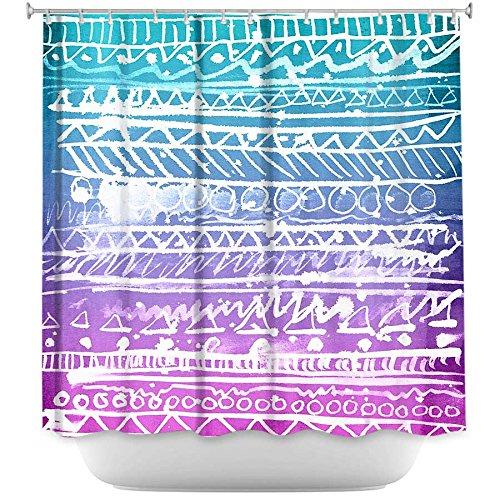 Decorative, Unique, Cool, Fun, Funky Bathroom - Pastel Ombre Aztec