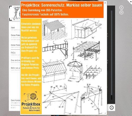 sonnenschutz markise selber bauen deine projektbox inkl 355 original patenten bringt dich mit. Black Bedroom Furniture Sets. Home Design Ideas
