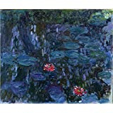 Tallenge Old Masters Collection - Water Lilies By Claude Monet - A3 Size Premium Quality Rolled Poster