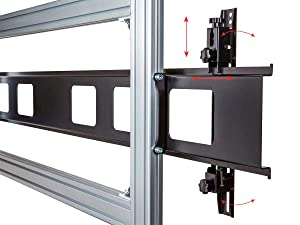 Monoprice 2x2 Video Wall Display Cart with Micro Adjustment Arms (Color: Silver/Black)