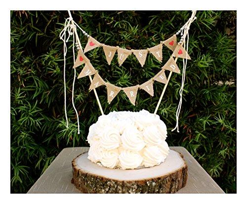 Bunting Wedding Cake Topper Amazon