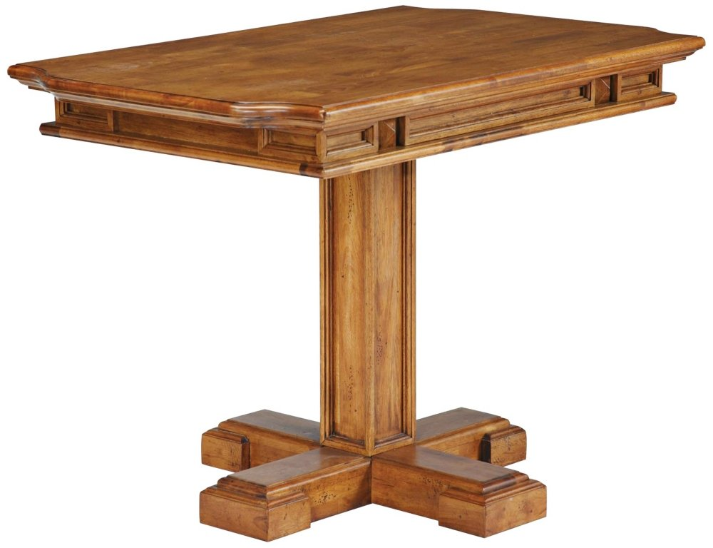 Home styles 5004 31 americana rectangular pedestal dining table distressed oak finish - Pedestal dining table rectangular ...