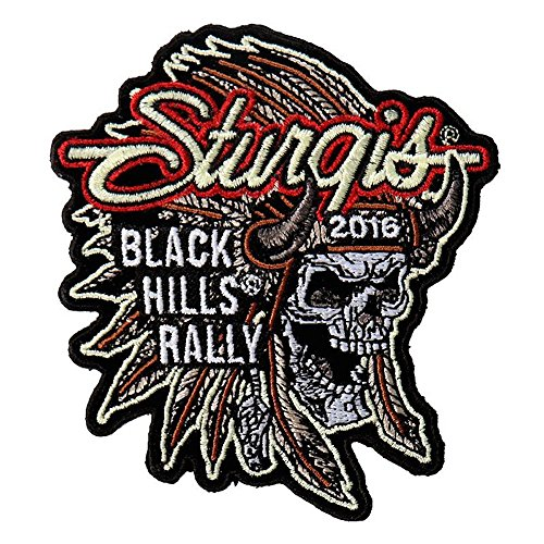 Hot Leather Men's Official 2016 Sturgis Motorcycle Rally Indian Chief Patch