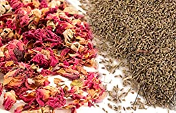 Aisev Naturals® - Rose Buds & Petals, Red + Lavender Flowers - 1/2 lb of Each