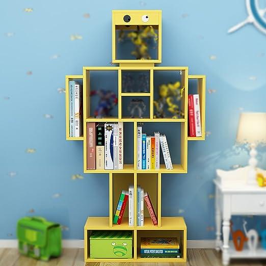 Estante Estantería Librería de Escritorio Robótico Infantil Moderno Colchón de Libros Infantiles para Niños Decoración de Jardín de Infancia ( Color : Amarillo )