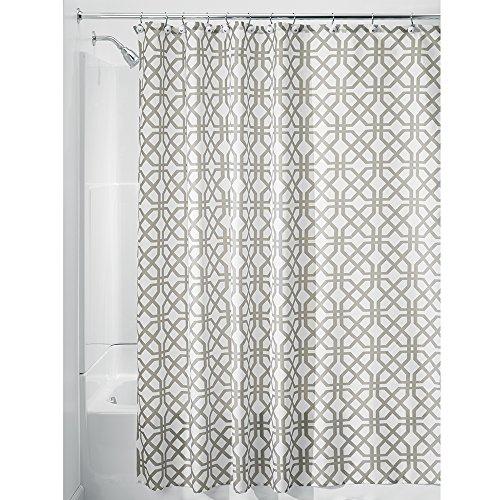 "InterDesign Trellis Fabric Shower Curtain Stall 54"" x 78"