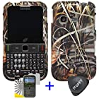 3 items Combo: ITUFFY (TM) LCD Screen Protector Film + Case Opener + Wild Outdoor Pond Grass Camouflage Design Rubberized Snap on Hard Shell Cover Faceplate Skin Phone Case for Samsung S390G (Straight Talk / Net 10 / Tracfone)