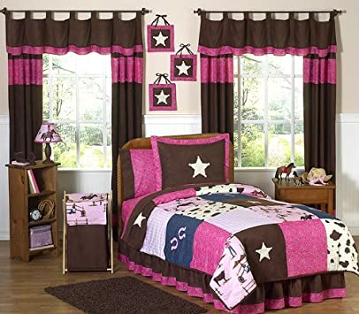Inspirational Western Horse Cowgirl Children us Bedding pc Twin Set by Sweet Jojo Designs