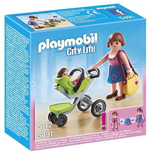 PLAYMOBIL Mother with Infant Stroller Playset - 1