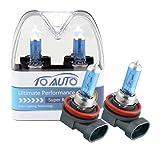 TOAUTO 2 X H8 35W 12V Car Headlight Lamp Halogen Light Super Bright Fog Xenon Bulb White (Color: H8 35W 5000K, Tamaño: H8 35W)