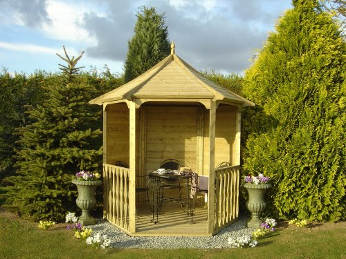 6ft x 7ft Tongue & Groove Summerhouse Arbour (Pressure treated)