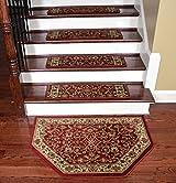 Dean Premium Carpet Stair Treads - Classic Keshan Claret 31