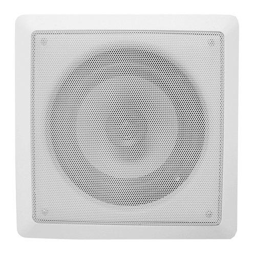 Acoustic Audio Cs-I82S 8-Inch Square 2 Way Speaker (White)