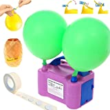 Party Zealot Electric Balloon Inflator Air Pump Massive Balloons Blower US Standard Plug for Balloon Arch, Balloon Column Stand, and Balloon Decoration, Purple Color (Color: Purple)
