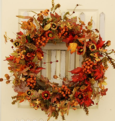 Red Berry Silk Wreath