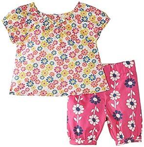 Kite Flower blouse & cropped trousers - Camiseta manga corta, con manga corta, con cuello redondo para bebé-niños