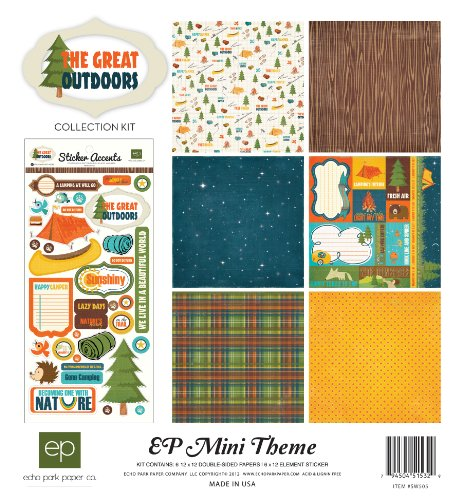 Echo Park Paper The Great Outdoors Mini Theme Collection Kit